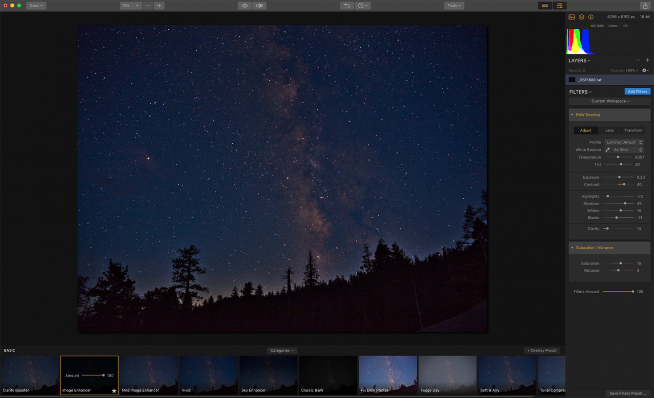 How to Edit Your Milky Way Photo with Luminar Image2