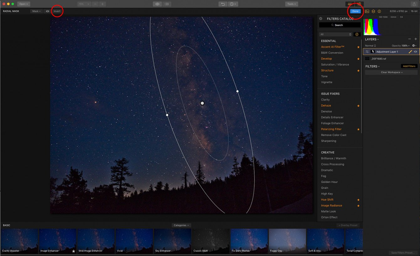 How to Edit Your Milky Way Photo with Luminar Image5
