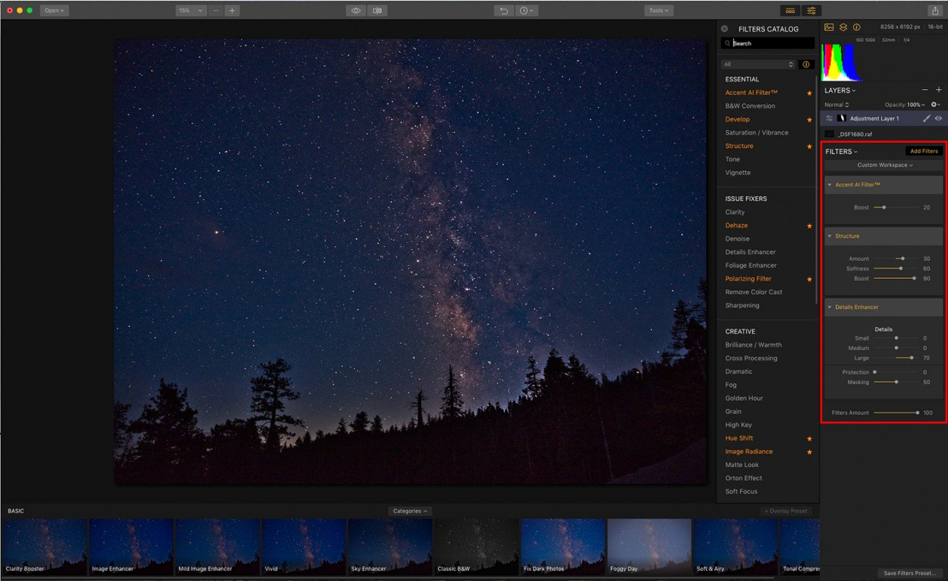 How to Edit Your Milky Way Photo with Luminar Image6