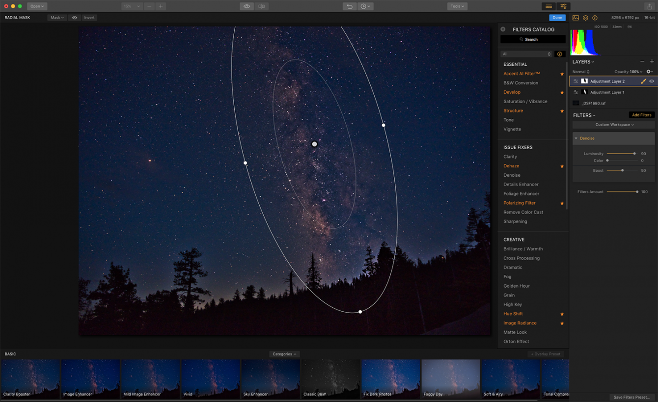How to Edit Your Milky Way Photo with Luminar Image7