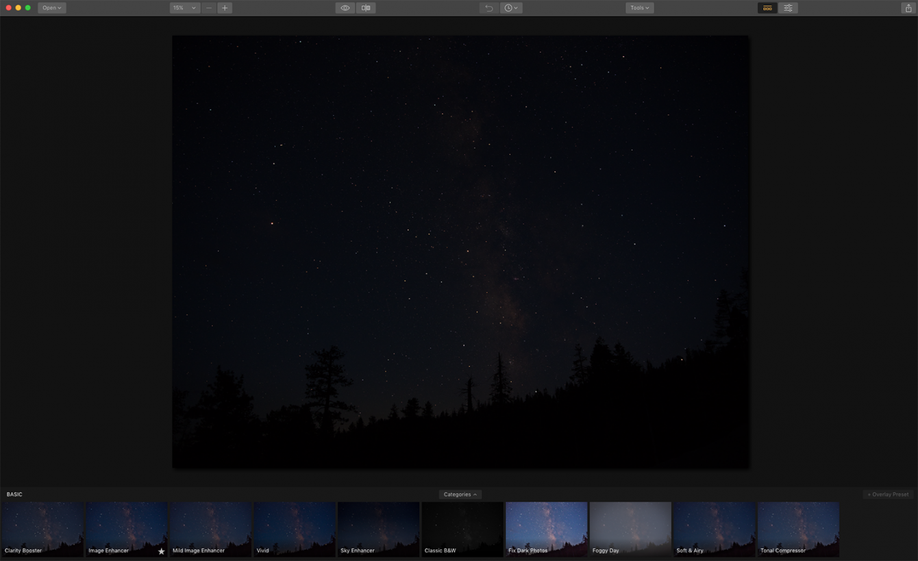 How to Edit Your Milky Way Photo with Luminar Image1