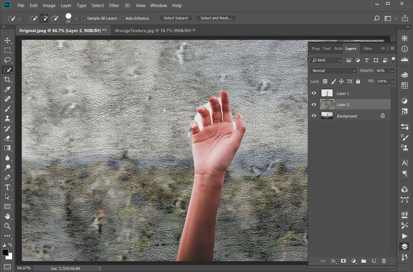 How to Get That Grunge Texture in a Photo Background in Photoshop Image3