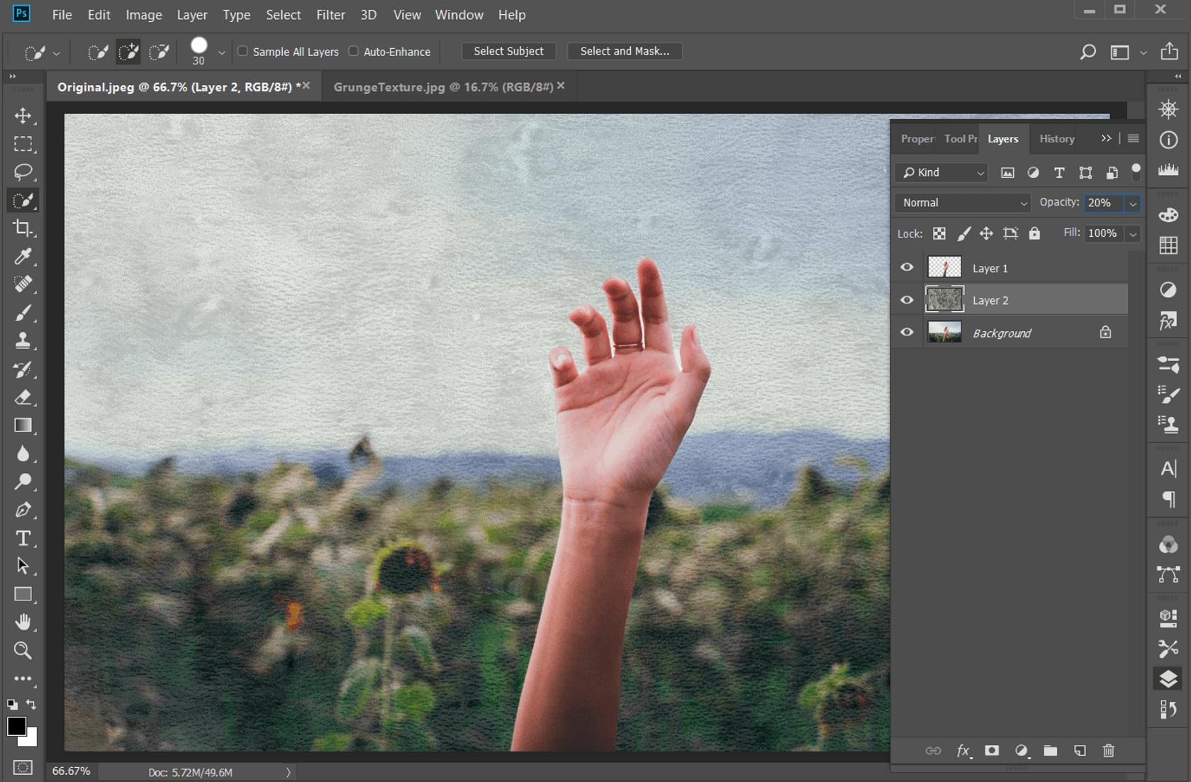 How to Get That Grunge Texture in a Photo Background in Photoshop Image4