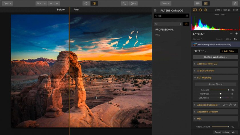 Making and Using LUTs for Flex and Luminar Image5