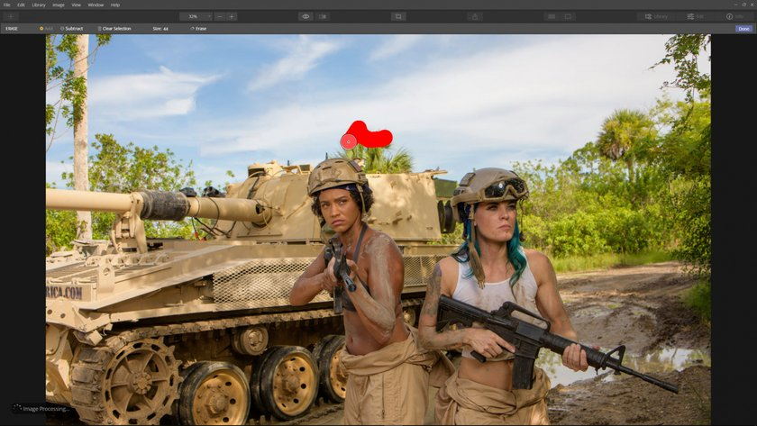 How to edit distractions out of a photo Image5