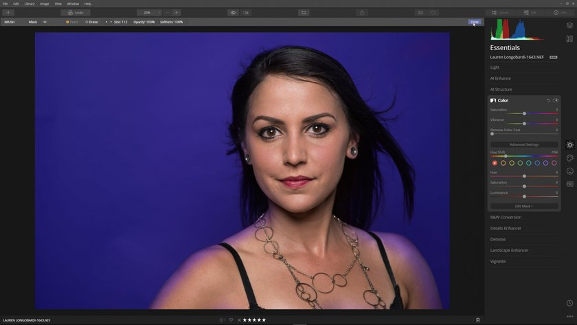 How to change the background color of a photo Image6