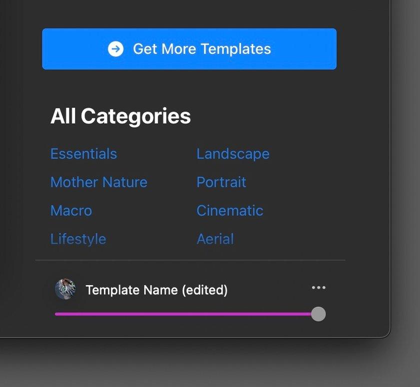 Luminar AI Custom Templates Image2