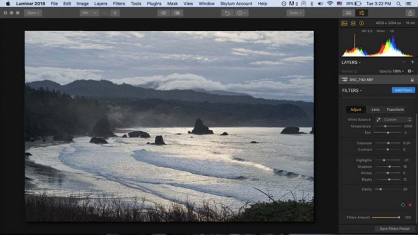 How to Develop Raw Photos in Luminar Image6