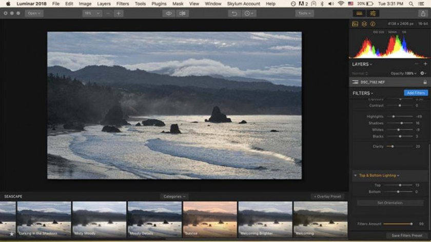 How to Develop Raw Photos in Luminar Image7