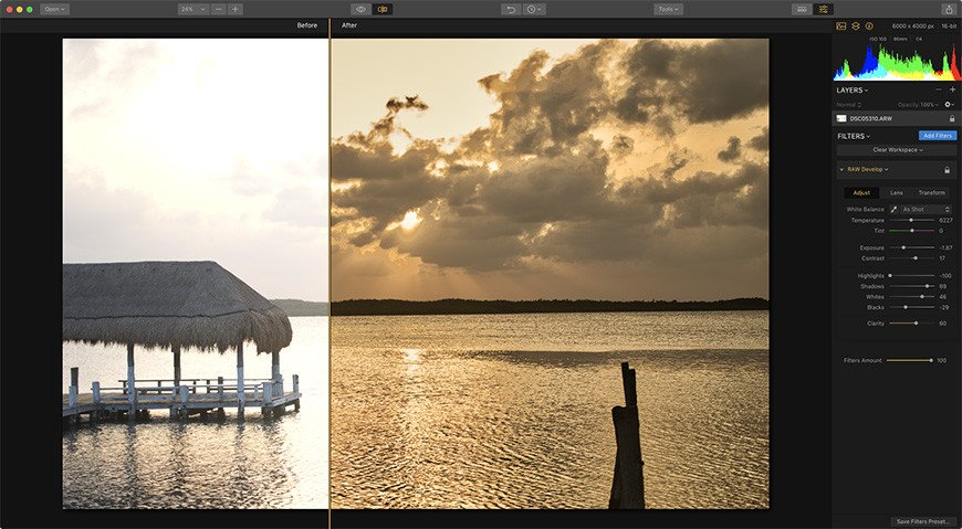 Getting Pro Results with the Raw Develop Filter Image2