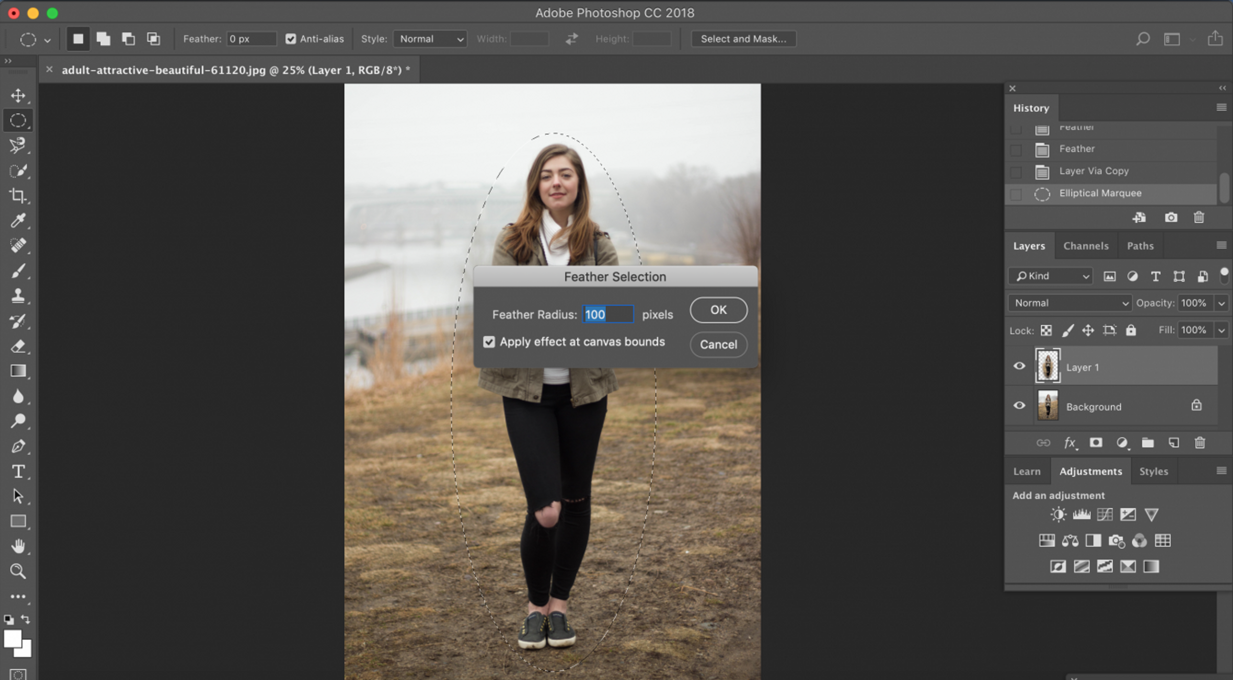 How to Smooth Edges in Photoshop (Photoshop Feather